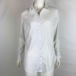 Ann Taylor Long White Shirt 8